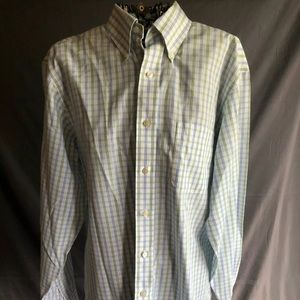 Brooks Brothers 346 Men's Striped Button Up Shirt